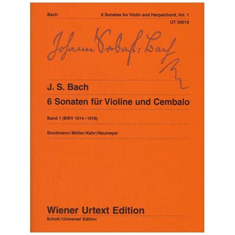 Bach, J.S.: 6 Sonaten Band 1 (Nr. 1-3) BWV1014-1016