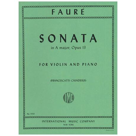 Fauré, G.: Sonate Nr. 1 Op. 13 A-Dur