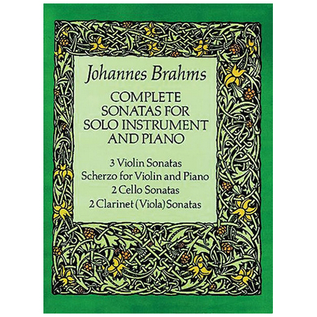 Brahms, J.: Complete Sonatas for solo instrument and piano