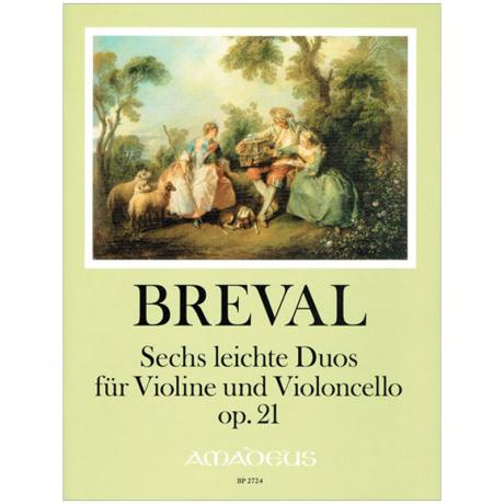 Bréval, J.-B.: 6 leichte Duos Op. 21
