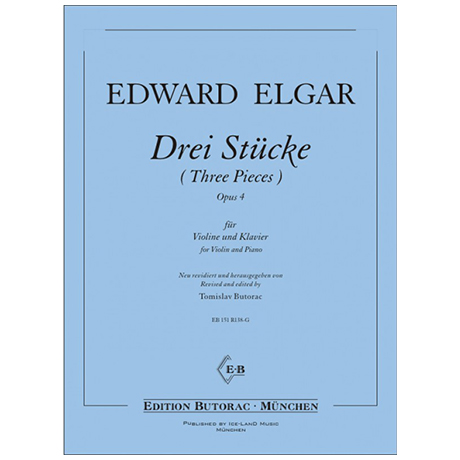 Elgar, E.: Drei Stücke Op. 4