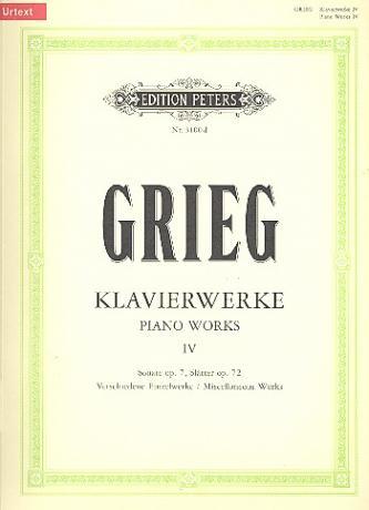 Grieg, E.: Sonate op. 7, 7 Fugen u.a.