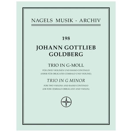 Goldberg, J.G.: Triosonate in g-Moll