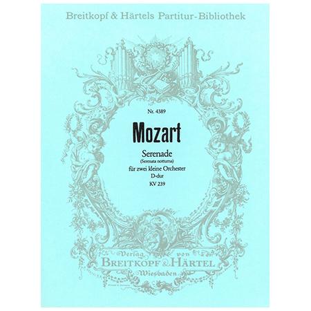 Mozart, W. A.: Serenade D-Dur KV 239
