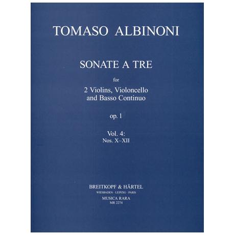 Albinoni, T.: Sonate a tre Op. 1 Band 4 (Nr. 10-12)