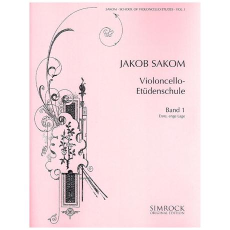 Sakom: Violoncello-Etüden-Schule Heft 1