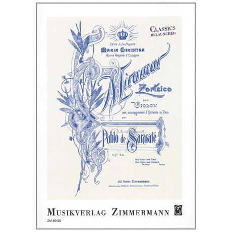 Sarasate, P. d.: Miramar — Zortzico Op. 42