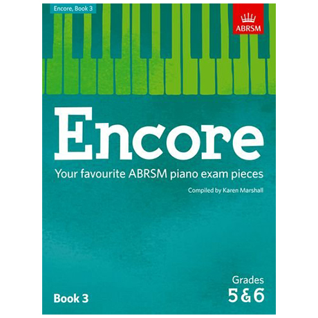ABRSM: Encore – Your favourite ABRSM violin exam pieces Book 3 Grade 5 & 6