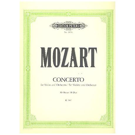 Mozart, W.A.: Violinkonzert Nr. 1 B-Dur, KV 207 mit Kadenz