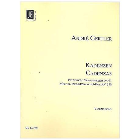 Gertler, A.: Kadenzen zu Violinkonzerten von L. v. Beethoven und W. A. Mozart