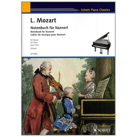 Schott Piano Classics - Mozart, L.: Notenbuch für Nannerl
