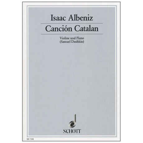 Albeniz: Cancion Catalan