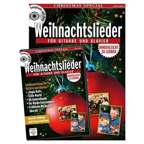 Weihnachtslieder – Songbook (+DVD)