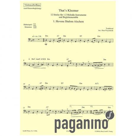 Przystaniak, P.: That's Klezmer – Bassstimme