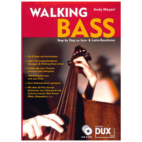 Mayerl, A.: Walking Bass (+ 3 CDs)