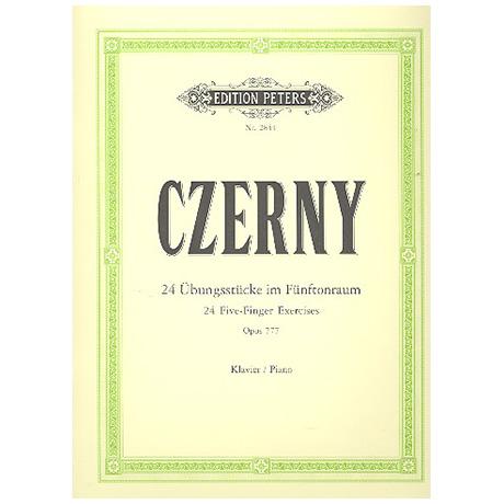 Czerny, C.: 24 Übungsstücke (5 Finger) Op. 777