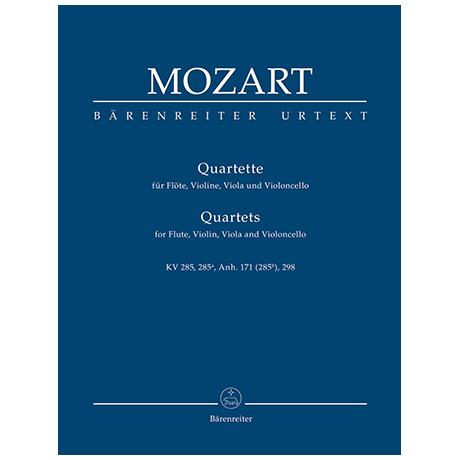 Mozart, W. A.: Quartette für Flöte, Violine, Viola und Violoncello