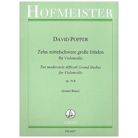 Popper, D.: 10 mittelschwere große Etüden Op.76,2