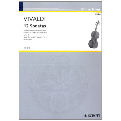 Vivaldi, A.: 12 Violinsonaten Op. 2 Band 2