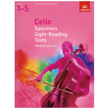 ABRSM: Cello Specimen Sight-Reading Tests – Grades 1-5 (From 2012)