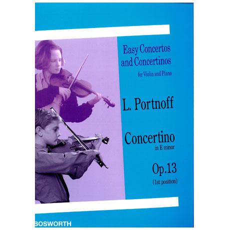 Portnoff, L.: Concertino Op. 13 e-Moll