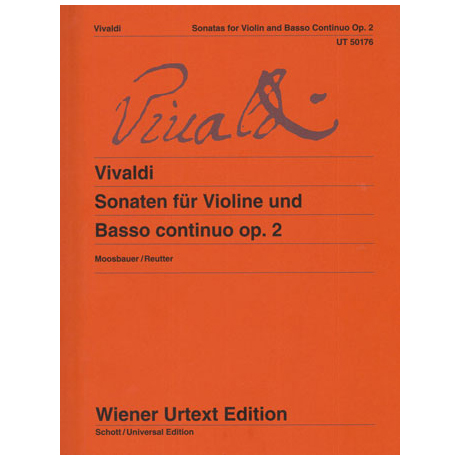 Vivaldi, A.: Violinsonaten für Violine und Basso continuo Op. 2