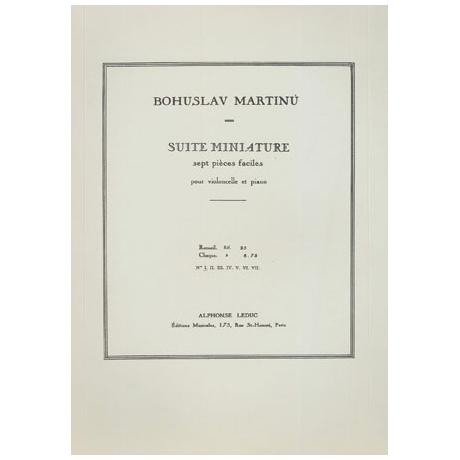 Martinů, B.: Suite miniature – Nr. 1