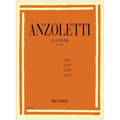 Anzoletti, M.: 12 Violaetüden