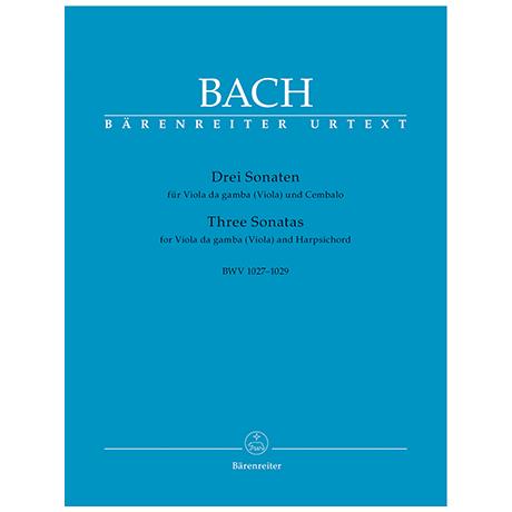 Bach, J. S.: 3 Violasonaten BWV1027-1029