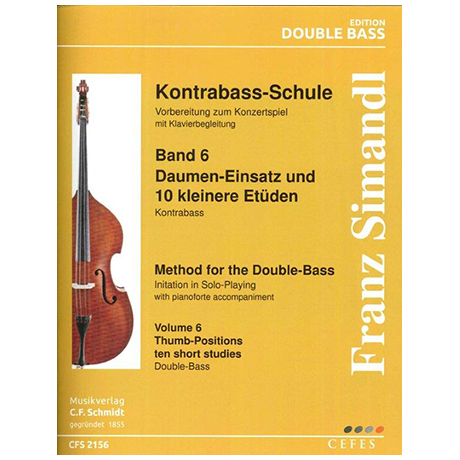 Simandl, Franz: Kontrabass-Schule Band 6