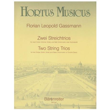 Gassmann, F.L.: Zwei Streichtrios Es-dur und B-dur