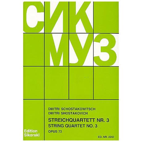 Schostakowitsch, D.: Streichquartett Nr. 3, op. 73