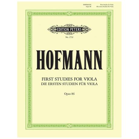 Hofmann: Die ersten Etüden op. 86