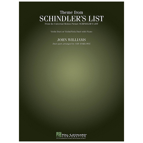 Williams, J.: Theme from Schindler's List