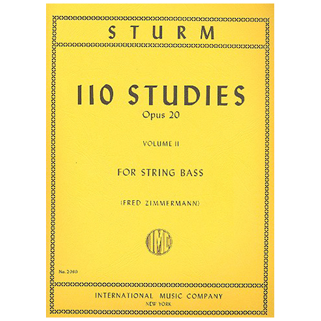Sturm, W.: 110 Studies Op. 20 Vol. 2 (Nr. 56-110)