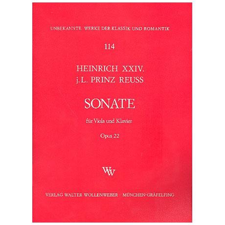 Heinrich XXIV., Prinz Reuss: Sonate Op. 22 G-Dur