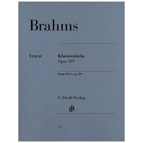 Brahms, J.: Klavierstücke Op. 119/1-4