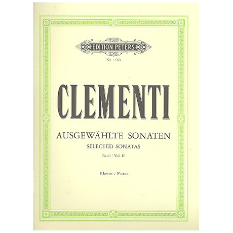 Clementi, M.: Ausgewählte Sonaten Band II
