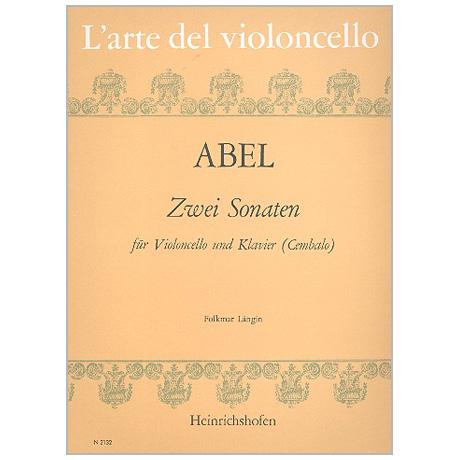 Abel, K. F.: 2 Violoncellosonaten WKO 147 und 148