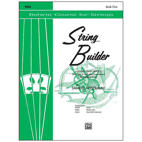 Applebaum, S.: String Builder Book One – Viola