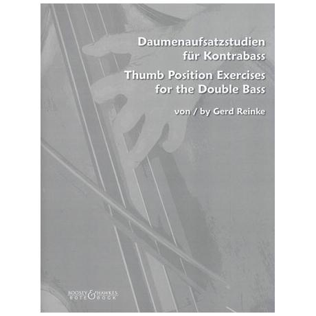 Reinke, G.: Daumenaufsatzstudien für Kontrabass