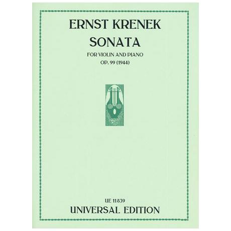 Krenek, E.: Sonata Op. 99