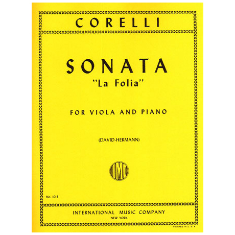 Corelli, A.: Violasonate Op. 5/12 »La Folia«