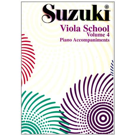 Suzuki Viola School Vol.4 – Piano Accompaniment