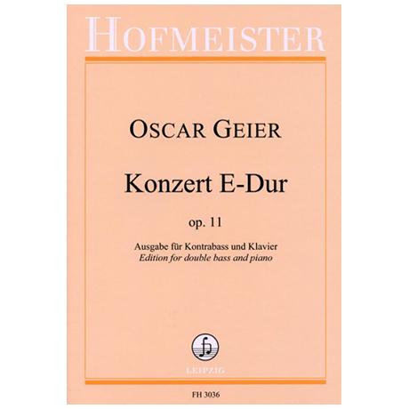 Geier, O.: Konzert E-Dur Op. 11