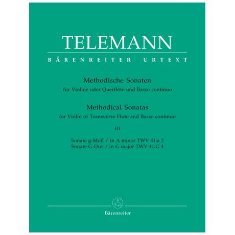 Telemann, G. Ph.: Methodische Sonaten - Band 3