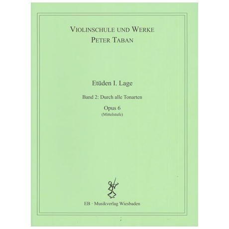 Taban, P.: Op. 6: Etüden I. Lage Band 2