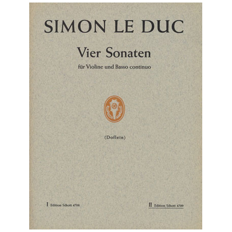 Leduc, S.: 4 Violinsonaten Band 2