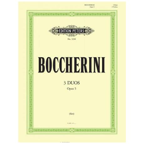 Boccherini, L.: 3 Duos Op. 5