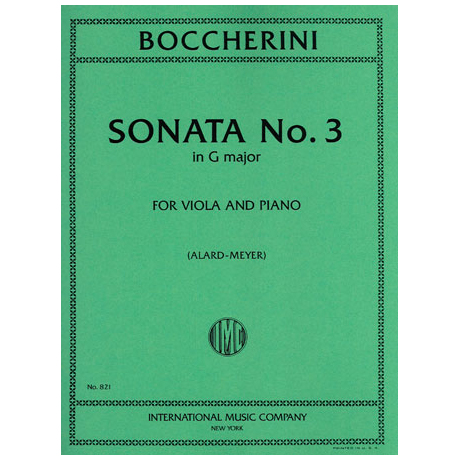 Boccherini, L.: Sonate Nr. 3 in G-Dur